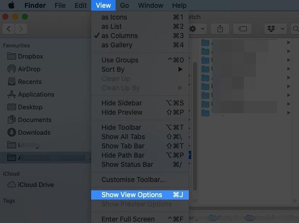 Как увеличить размер текста шрифтов Finder в macOS