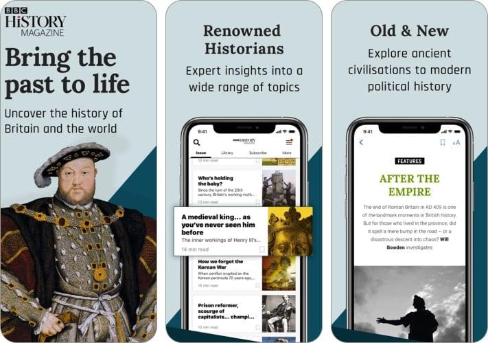 Приложение BBC History Magazine для iPhone и iPad