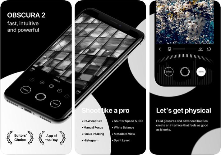 Приложение Obscura 2 Camera для iPhone 11 Pro Max
