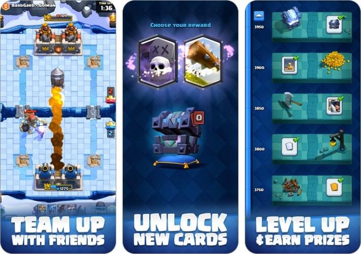 скриншот игры для двух игроков clash royale iphone