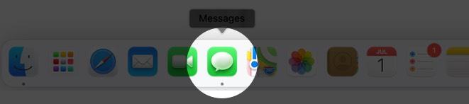 открыть приложение сообщений на Mac под управлением MacOS Big Sur