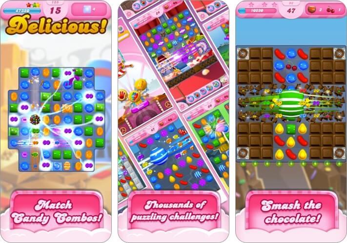 Candy Crush Saga iPhone и iPad Скриншот детской игры