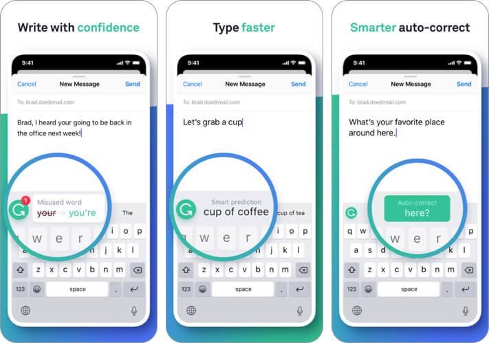 грамматическая клавиатура iphone и ipad скриншот приложения