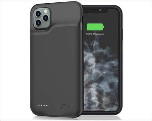 чехол jerss с увеличенным аккумулятором для iphone 11 pro max