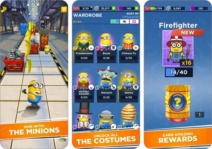 minion rush скриншот игры для iphone и ipad kids