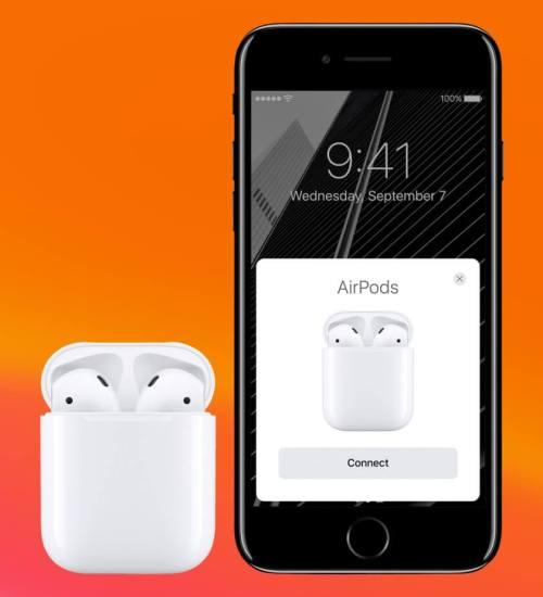 пара airpods с iphone
