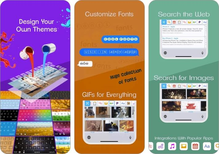 клавиатура перенастройки iPhone и iPad скриншот приложения