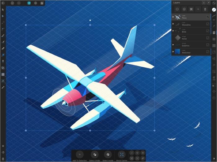 скриншот приложения affinity designer для ipad