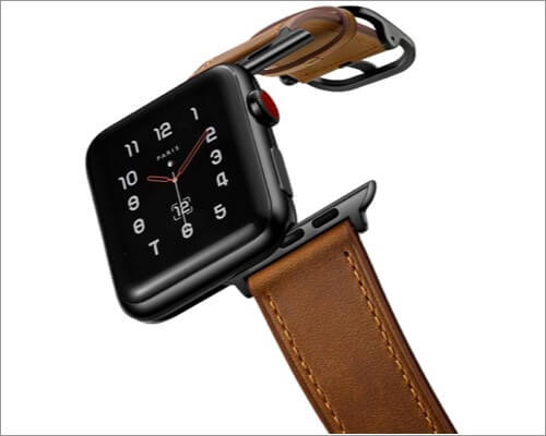 кожаный ремешок амбанд для apple watch series 5