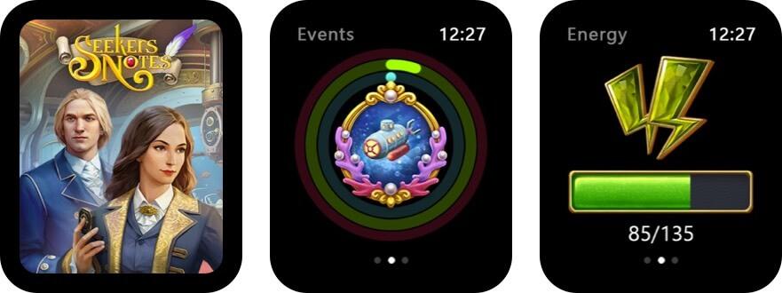 заметки искателей: скрытая тайна скриншот игры для яблочных часов