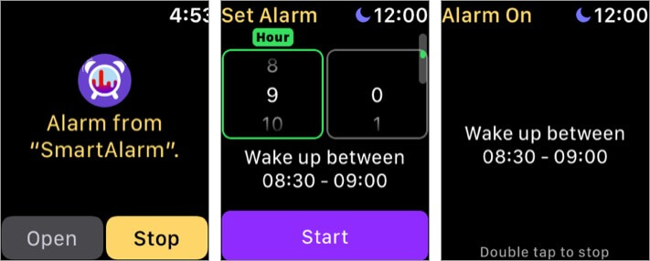 умный будильник приложение для Apple Watch scrennshot