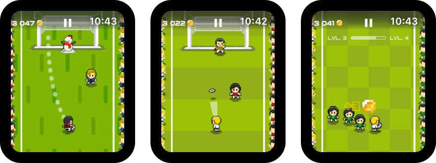 футбол дриблинг кубок яблочные часы скриншот игры