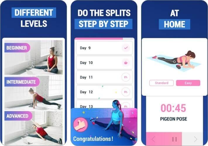 разделение тренировок iphone и ipad скриншот приложения для растяжки