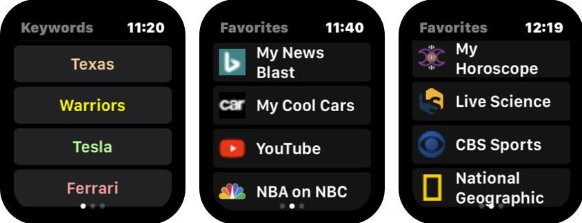 скрутите снимок экрана приложения Apple Watch в браузере