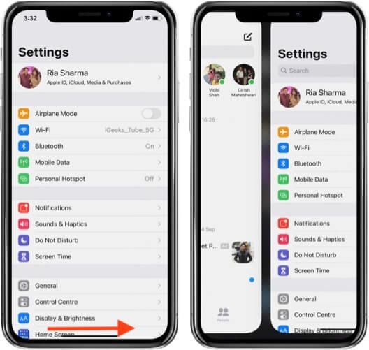 переключаться между открытыми приложениями на iphone