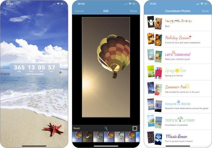 Обратный отсчет в реальном времени Скриншот приложения для iPhone и iPad