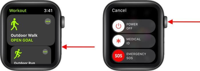 Принудительно закрыть приложение на Apple Watch
