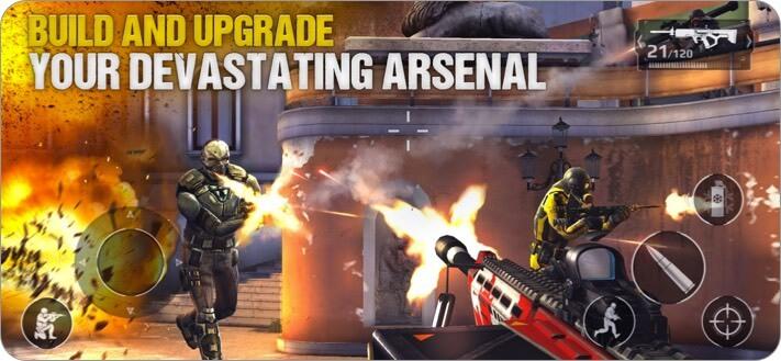Скриншот игры Modern Combat 5 для iPhone и iPad