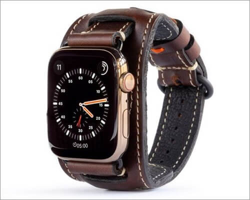 Кожаный ремешок Pad & Quill Lowry Cuff для Apple Watch Series 6 и SE