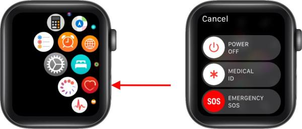 Выключите Apple Watch