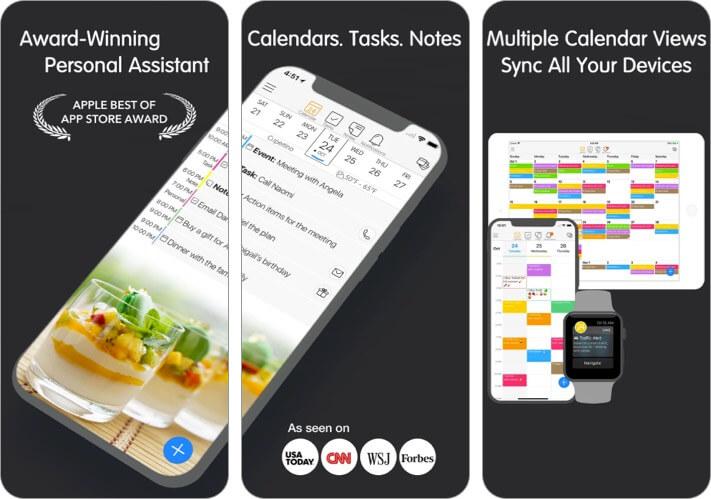 Скриншот приложения календаря 24me для iPhone и iPad