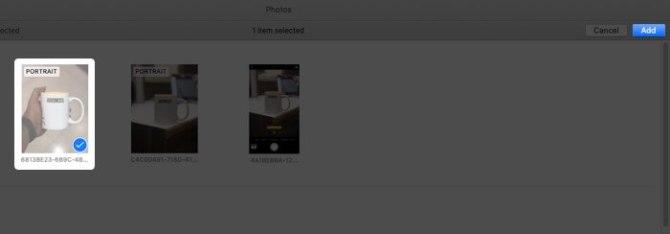 Добавление фотографий в слайд-шоу на Mac