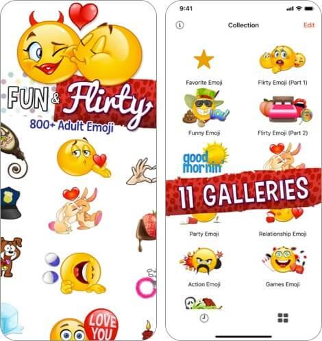 Взрослые эмодзи для влюбленных Скриншот приложения для iPhone и iPad
