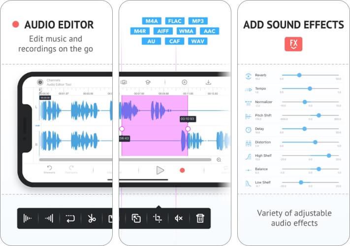 Инструмент для редактирования аудио для iPhone и iPad Скриншот приложения