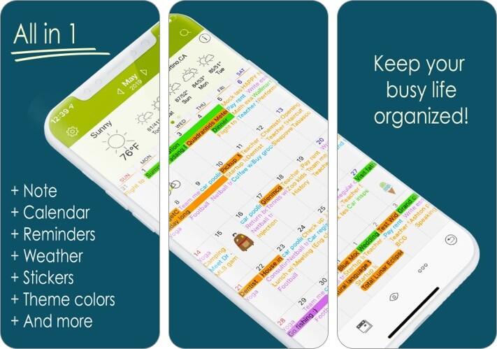 Скриншот приложения Awesome Calendar для iPhone и iPad