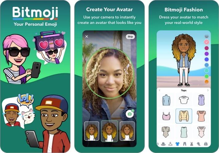 Bitmoji iPhone и iPad Emoji App Скриншот