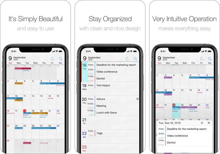 Приложение Calendar Op.2 для iPhone и iPad Скриншот