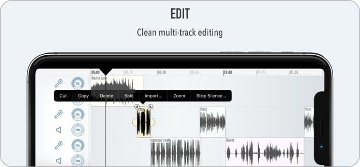 Скриншот приложения Ferrite Recording Studio для iPhone и iPad Music Editor