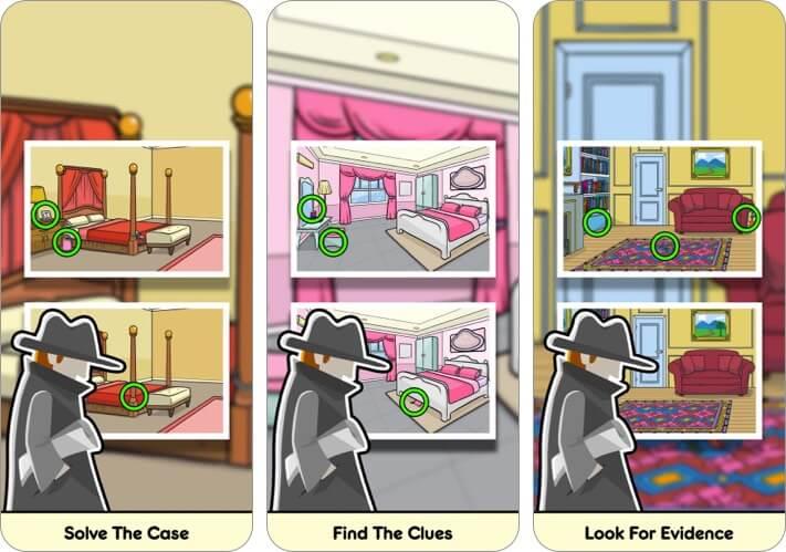 Найди отличия Скриншот детективной игры для iPhone и iPad