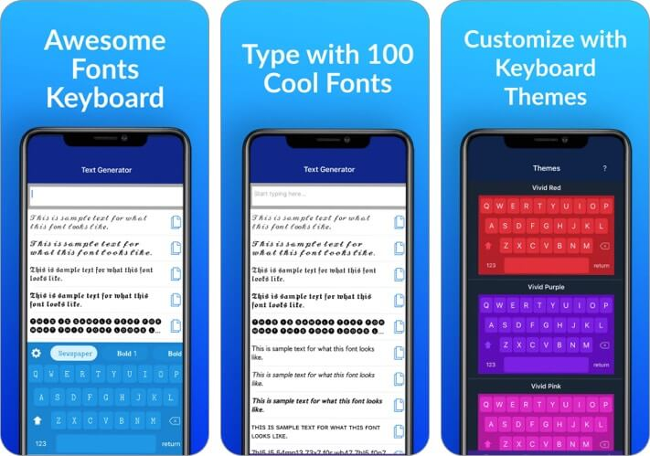 Скриншот приложения Fonts for You для iPhone