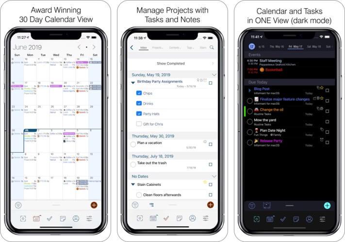 Приложение Календарь Informant 5 для iPhone и iPad Скриншот