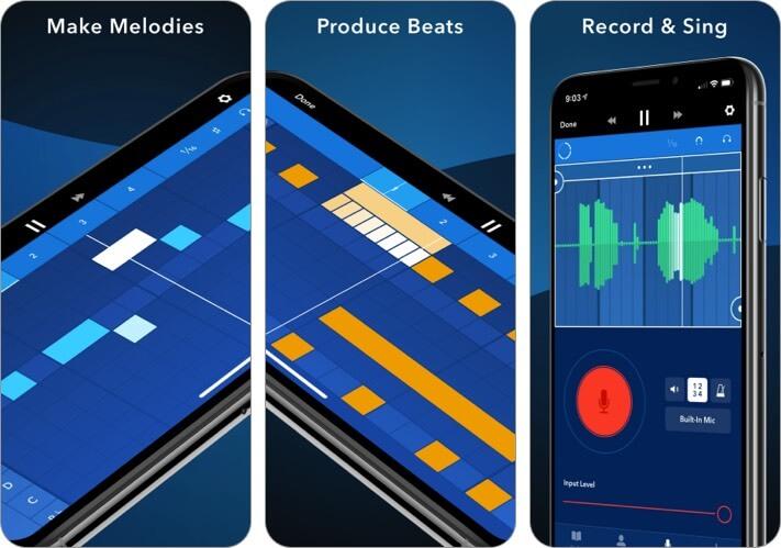 Скриншот приложения Medly для iPhone и iPad Music Editor