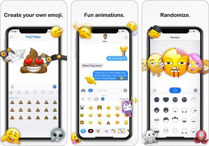 Скриншот приложения Moji Maker для iPhone и iPad