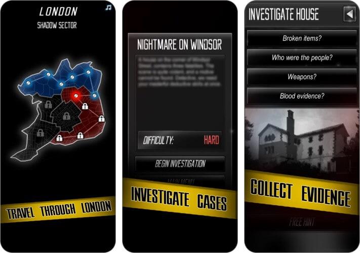Детективная история убийства Скриншот игры для iPhone и iPad