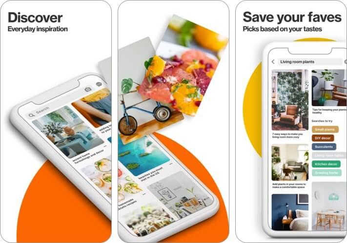 Скриншот приложения Pinterest для iPhone и iPad