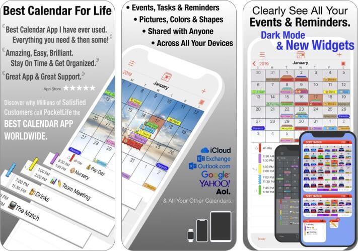 Приложение PocketLife Calendar для iPhone и iPad Скриншот