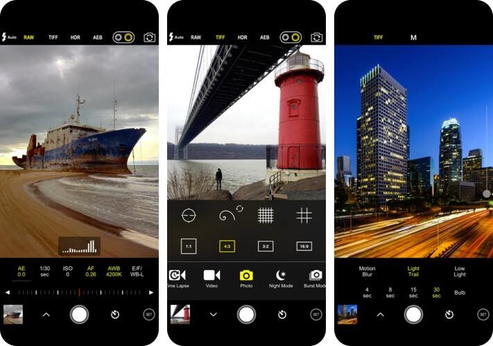 ProCam 8 RAW Photo Editing Скриншот приложения для iPhone и iPad