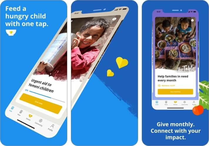 Скриншот приложения ShareTheMeal для iPhone и iPad