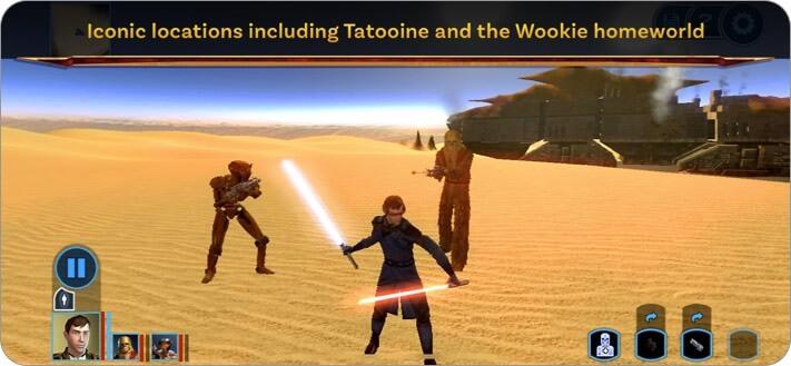 Скриншот ролевой игры Star Wars KOTOR для iPhone и iPad