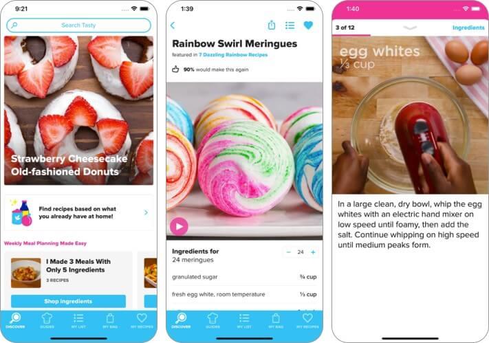 Скриншот приложения Tasty для iPhone и iPad