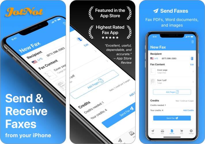 Приложение JotNot Fax для iPhone и iPad Скриншот