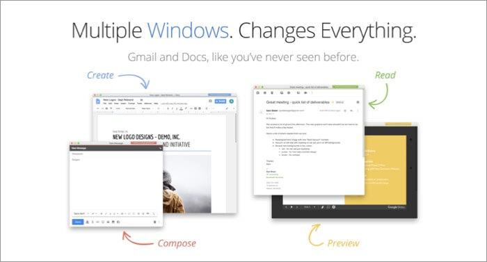 Скриншот приложения Kiwi для электронной почты Gmail для Mac