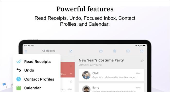 Скриншот приложения Newton Mail Email для Mac