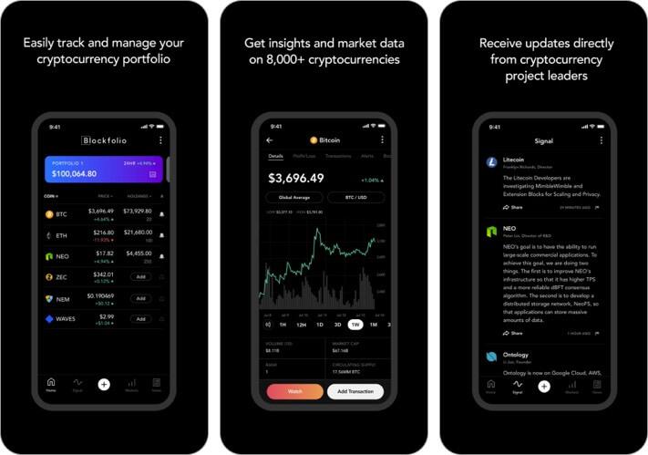 Blockfolio Криптовалюта Приложение для iPhone и iPad Скриншот