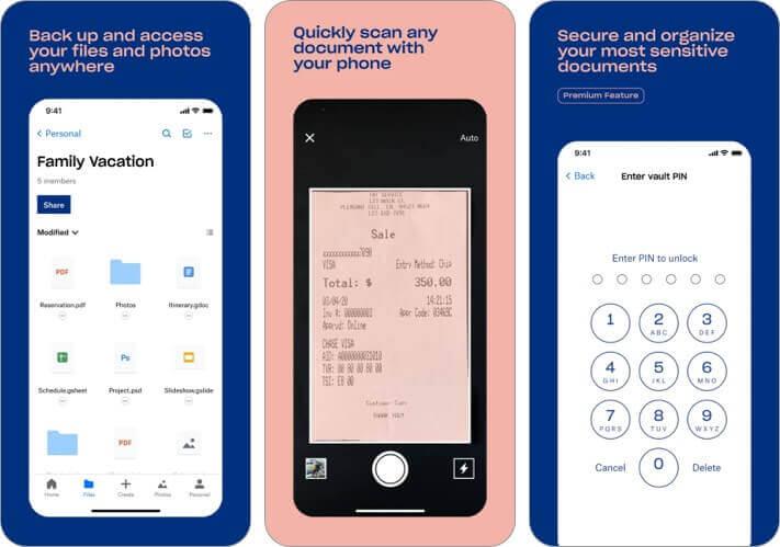 dropbox iPhone и iPad Скриншот приложения