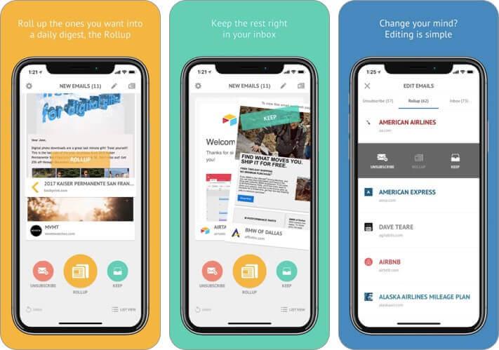 unroll-me Скриншот приложения для iPhone и iPad